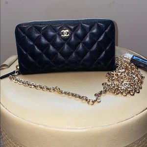 CHANEL Quilted Matelasse WOC Authentic